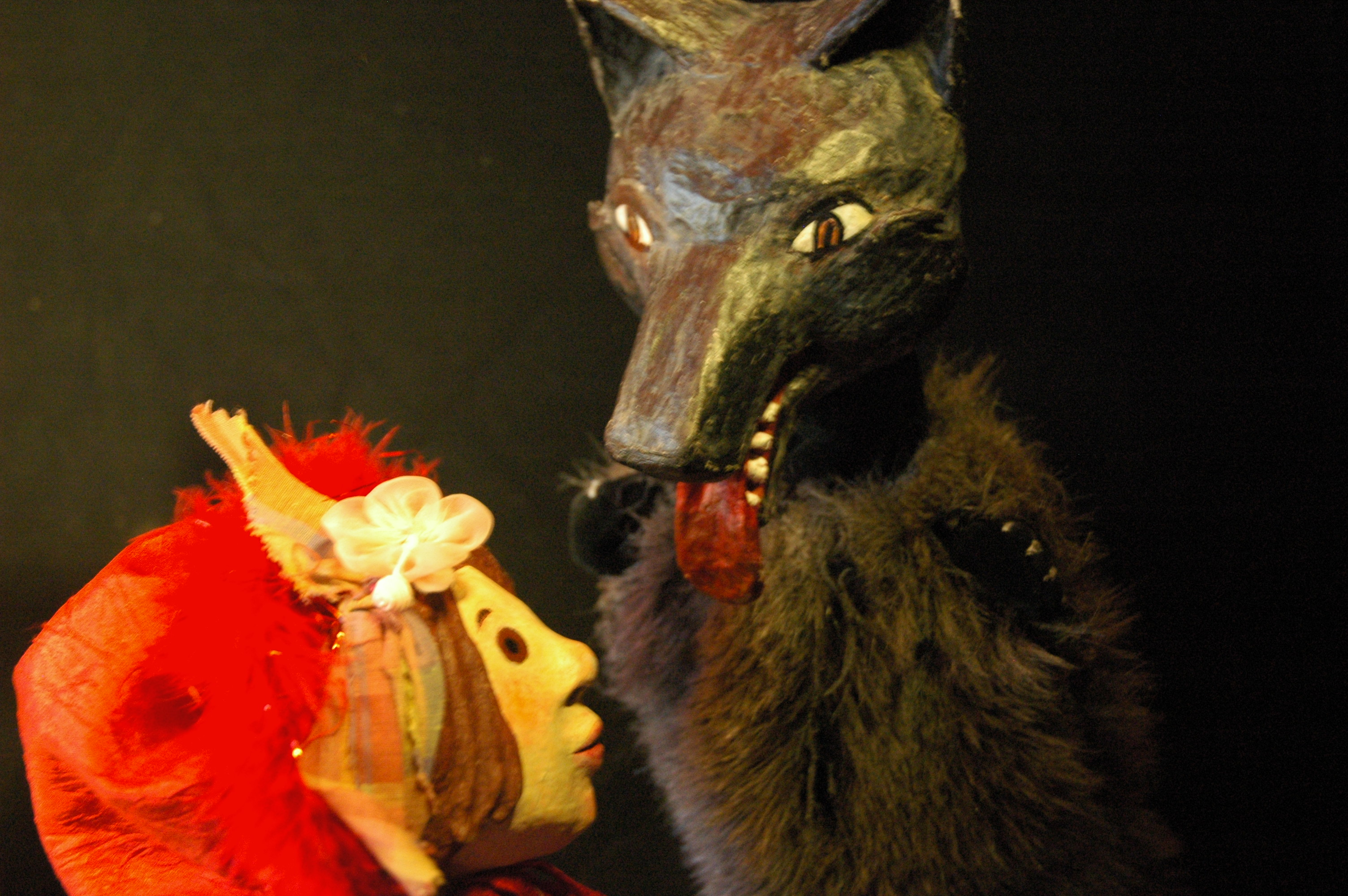 Le petit chaperon rouge et La princesse et la balle d'or (Marionnettes du marché)